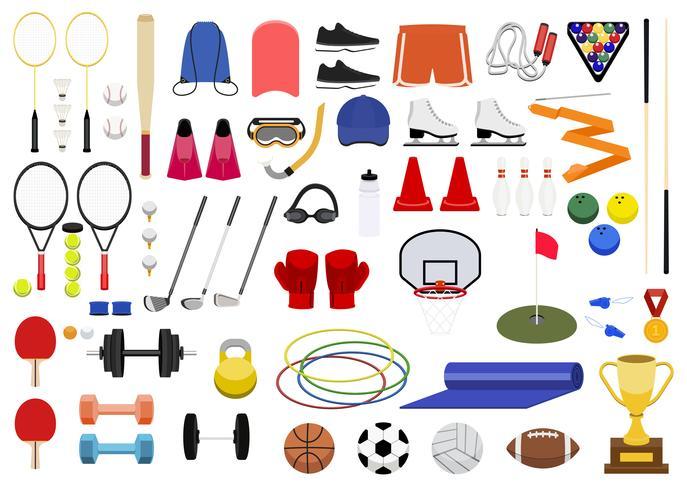 Colección de varios iconos de deporte ilustración