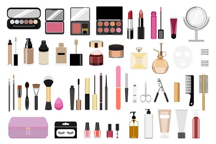 Collection d'icônes cosmétiques femmes