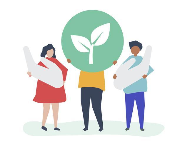 Le persone con il concetto di responsabilità ambientale