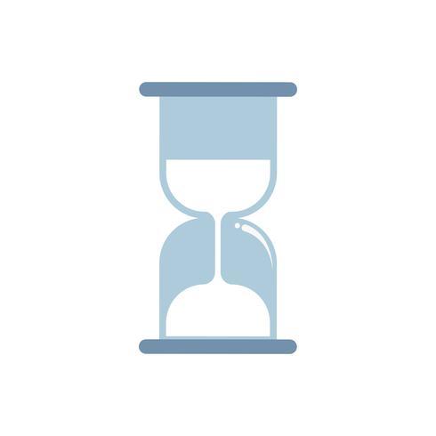 Blå timglas isolerad grafisk illustration
