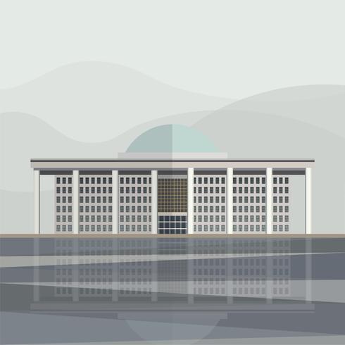 Ilustração, de, coreia, conjunto nacional, procede, corredor