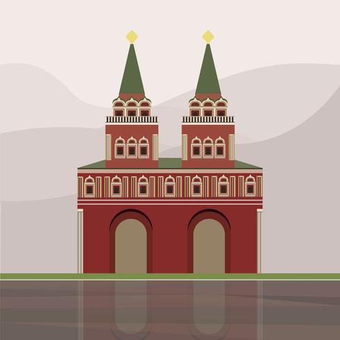 Illustratie van de Iberische poort en de kapel