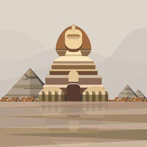 Illustratie van de grote sfinx van Gizeh
