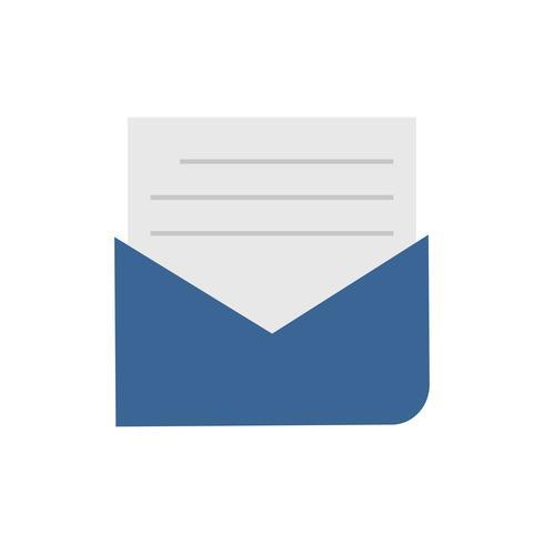 Geopende envelop geïsoleerde grafische illustratie