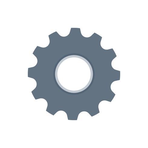 Cogwheel isolated icon graphic illustration