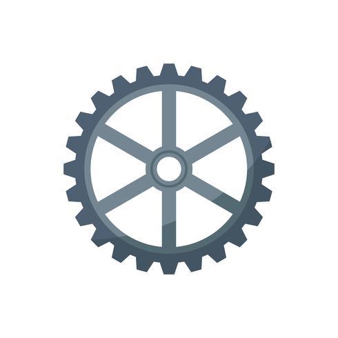 Roda dentada isolado ícone gráfico ilustração