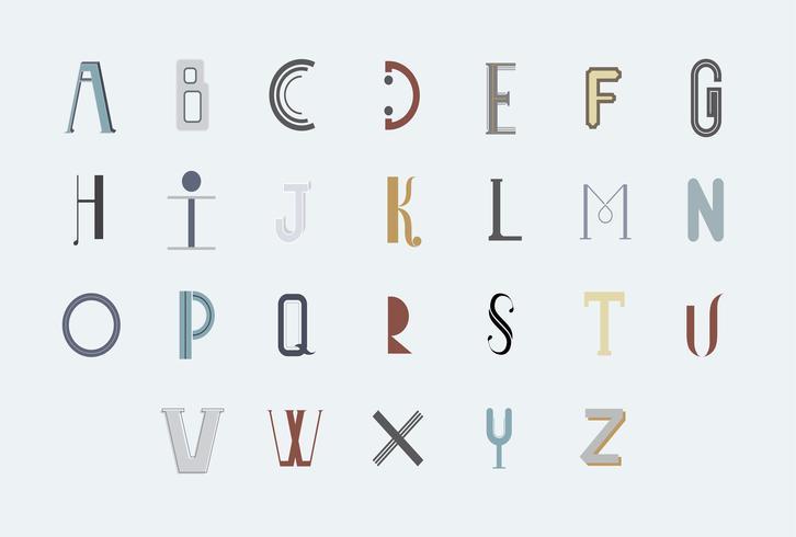 The English alphabet typography illustration