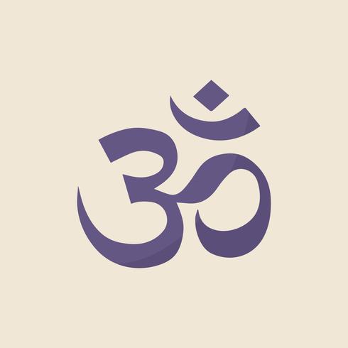 Illustraition van het Indiase Om symbool