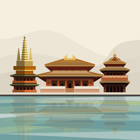 Ilustración del Templo Jing'an