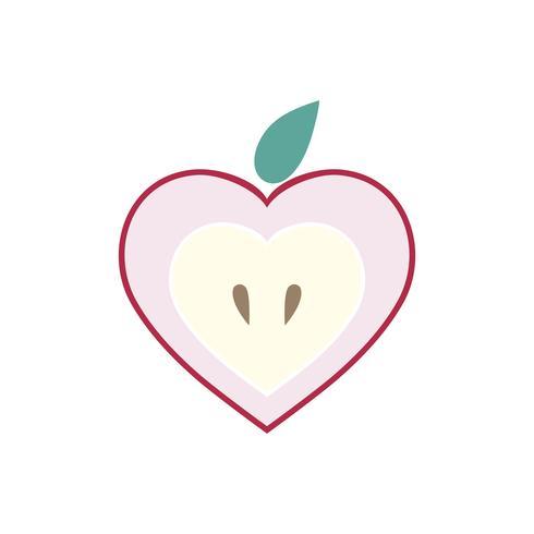 Skivad äpple isolerad grafisk illustration