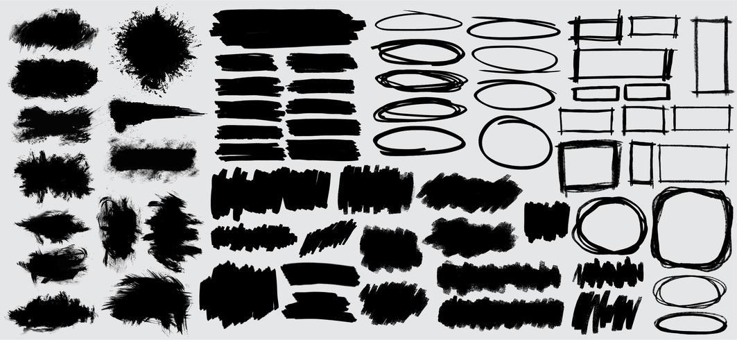 Samling av svart banderoll illustration