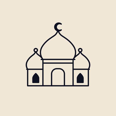 Illustration av en islamisk moské