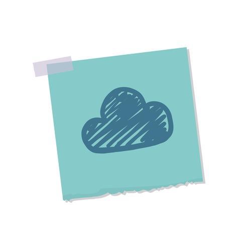 Cloud en weer opmerking illustratie