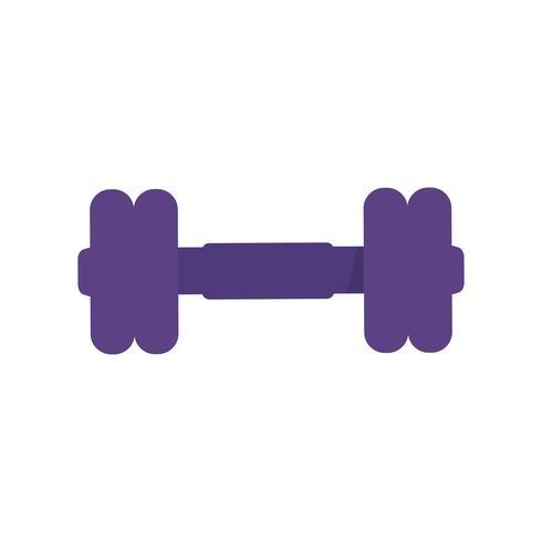 Illustration graphique icône haltère violet