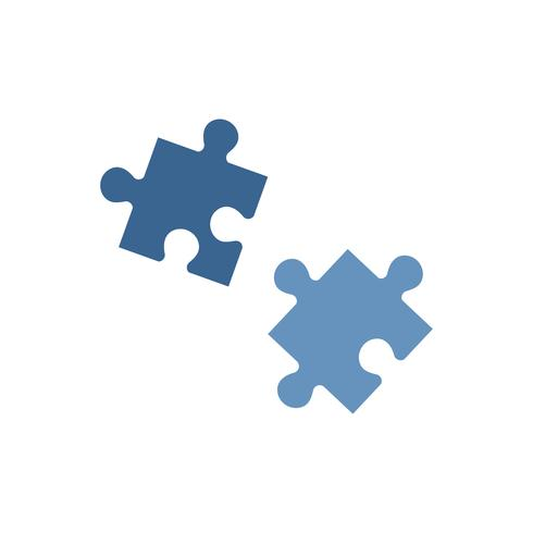Two blue jigsaw pieces graphic illustration - Download Free Vector