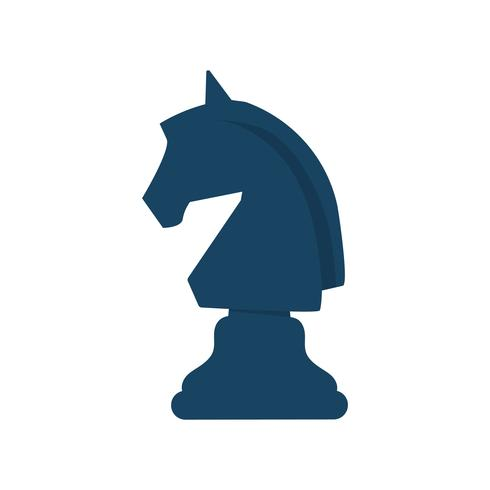Black horse chess graphic illustration