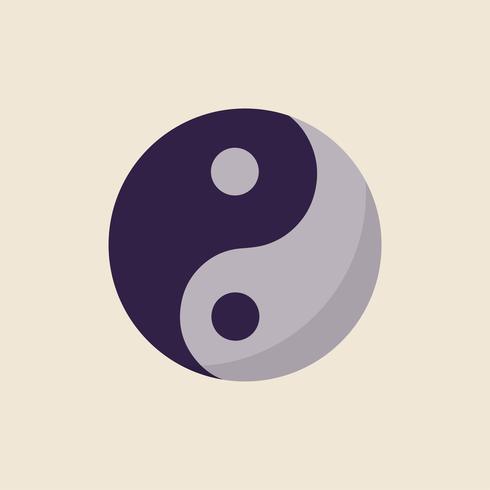 Illustratie van de Yin en Yang