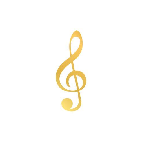 Ilustración de una nota musical clave de sol.