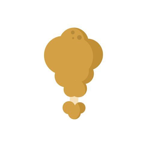 De gebraden kip isoleerde grafische illustratie