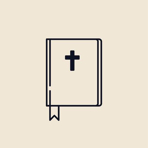 Illustrazione di una bibbia cristiana