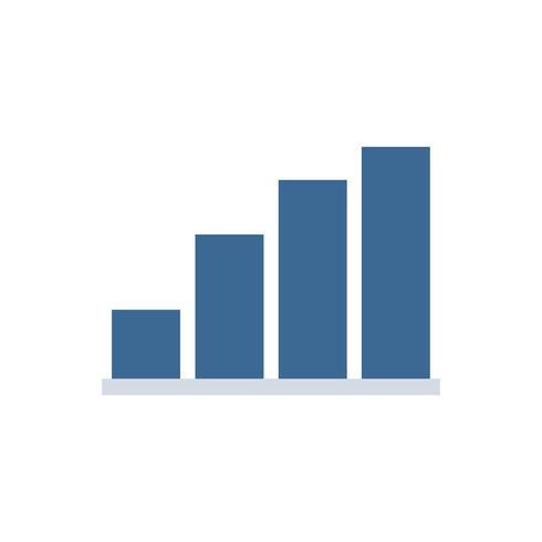 Bardiagram isolerad grafisk illustration
