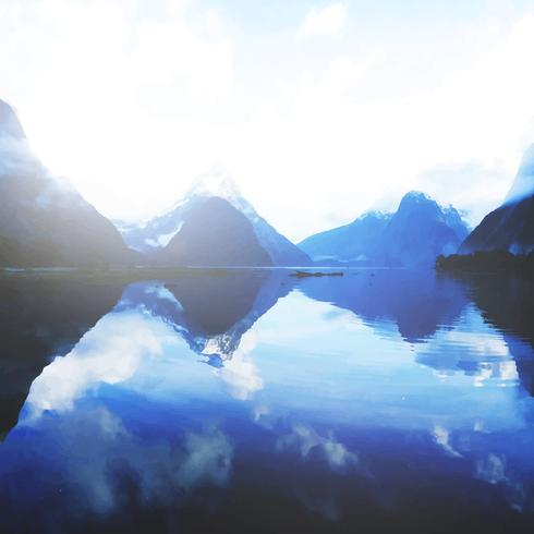 Bergen en meer in Nieuw Zeeland