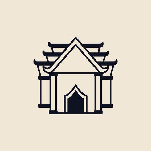 Abbildung eines buddhistischen Tempels