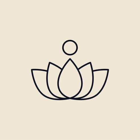 Illustrazione di un fiore di loto