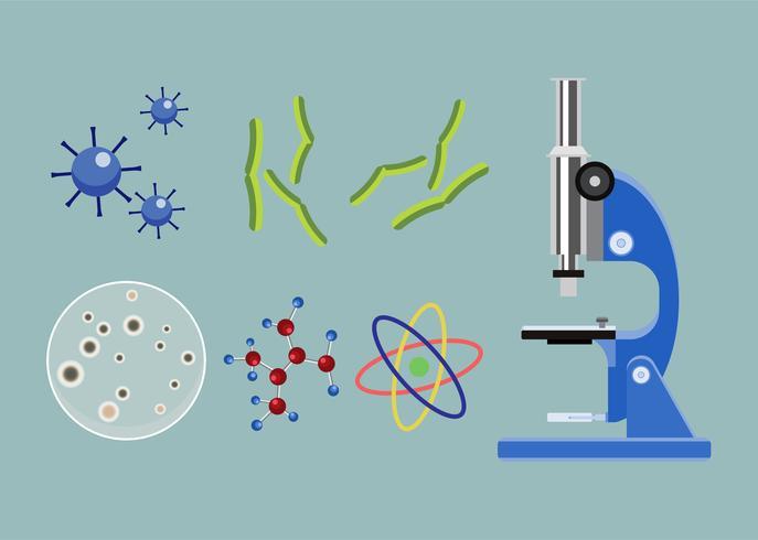 Collection d'une icône illustration de biologie vecteur