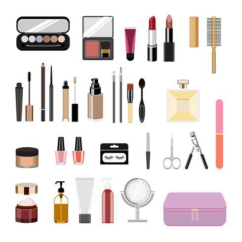 Verzameling van vrouwen cosmetische pictogrammen
