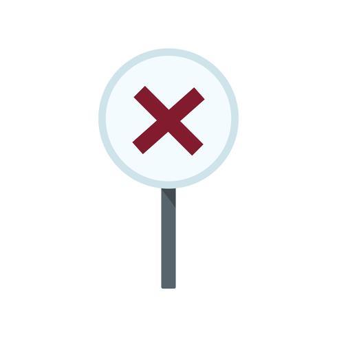 Um, símbolo cruz, branco, círculo, gráfico, ilustração