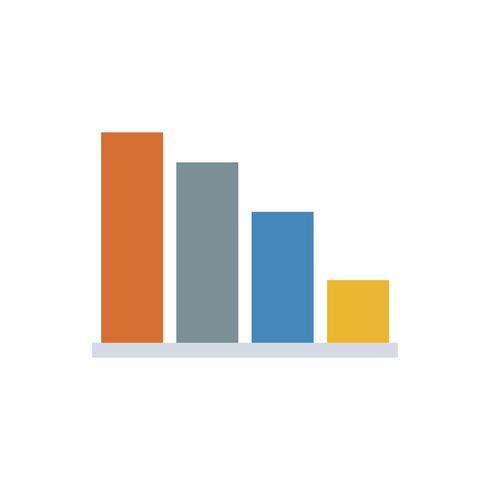 Staafdiagram geïsoleerde grafische illustratie