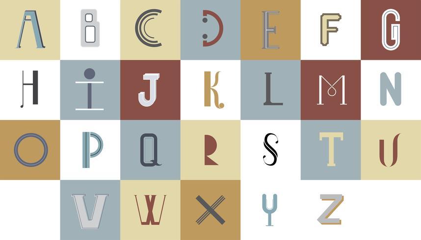 L'illustration de typographie alphabet anglais