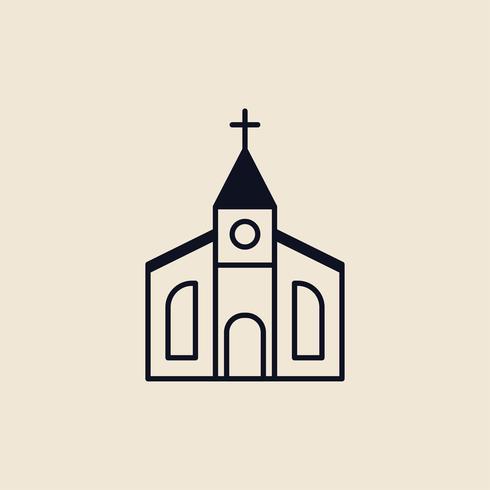 Illustratie van een christelijke kerk