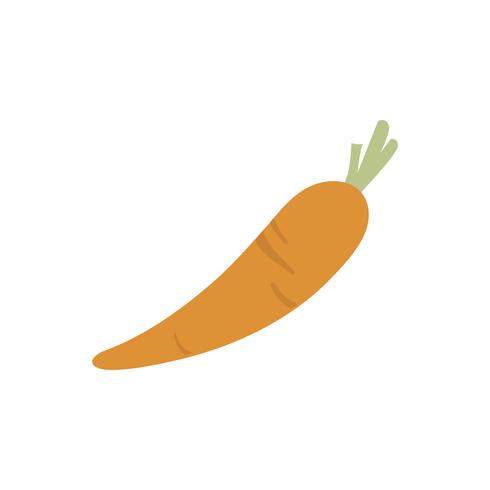 Single carrot isolated graphic illustration