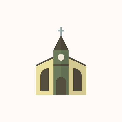 Illustration of a Christian church vector
