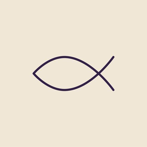 Illustration of the Christian fish symbol
