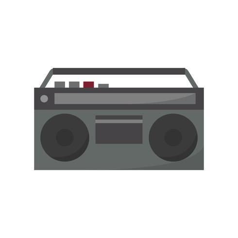 Black analog Radio isolated graphic illustration