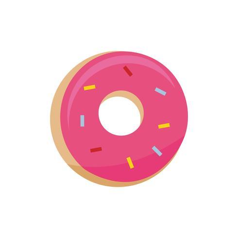 Roze donut pictogram grafische afbeelding