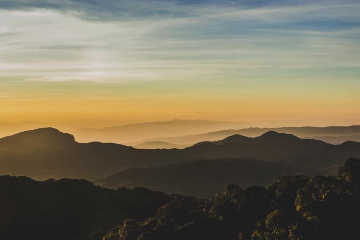 Montañas en el norte de Tailandia