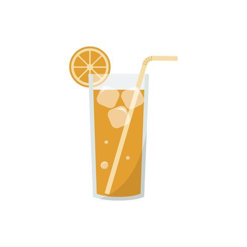 Oranje frisdrank grafische illustratie