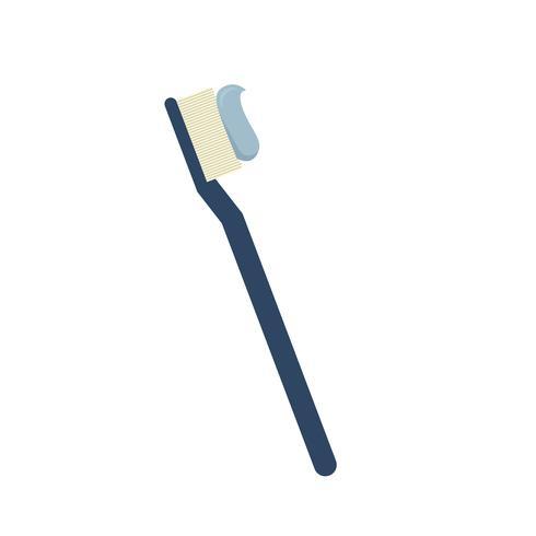 Tandborste med blå pasta isolerad grafisk illustration