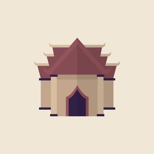 Illustration d'un temple bouddhiste