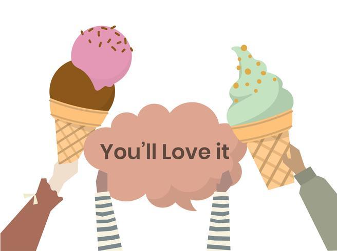 Illustration von Eistüten