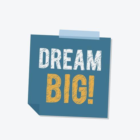 Dröm stor klistermärke illustration