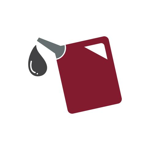 Rote Gasbehältergraphikillustration