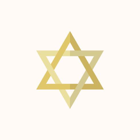 Illustratie van de ster van David
