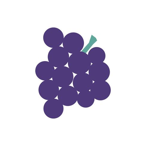 Bunch of grapes isolated graphic illustration
