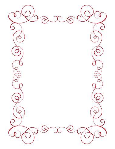 kvadrat blom kalligrafi vintage ram. Illustration vektor handritad EPS 10