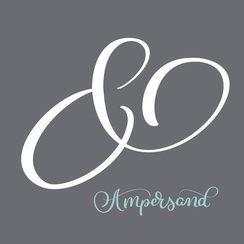 Elegant och elegant anpassad ampersand. Kalligrafi bokstäver vintage dekoration ampersand för anpassade inbjudan. Vektor illustration